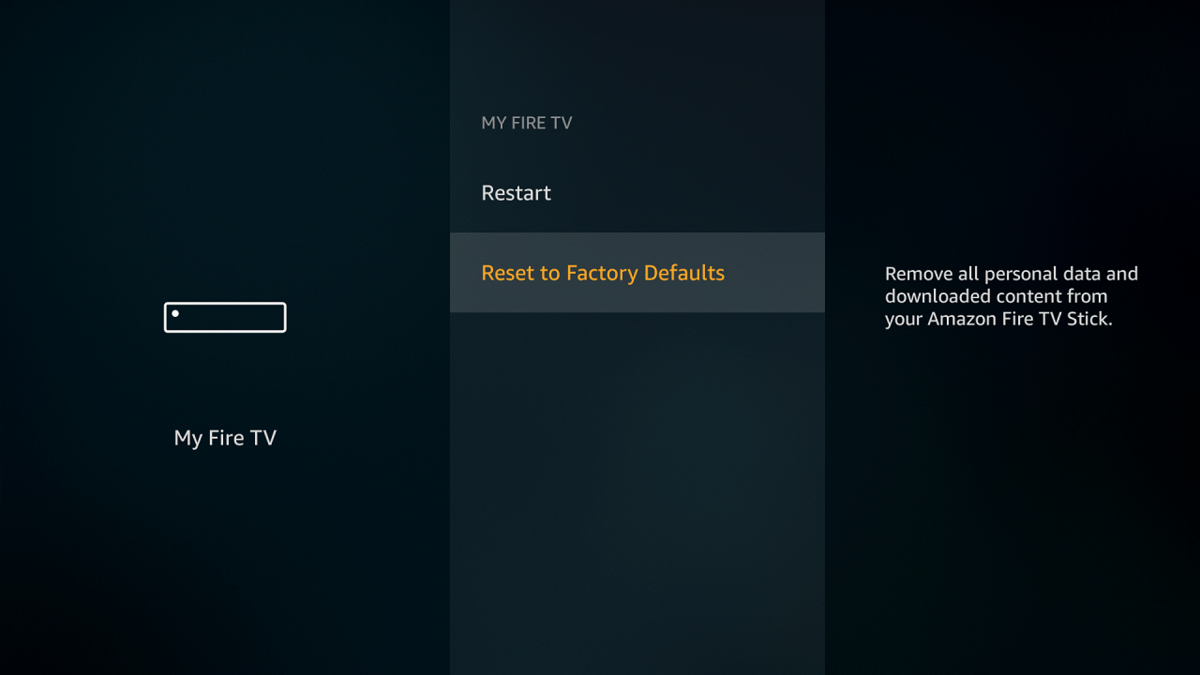 Firestick - Reset to Factory Defaults