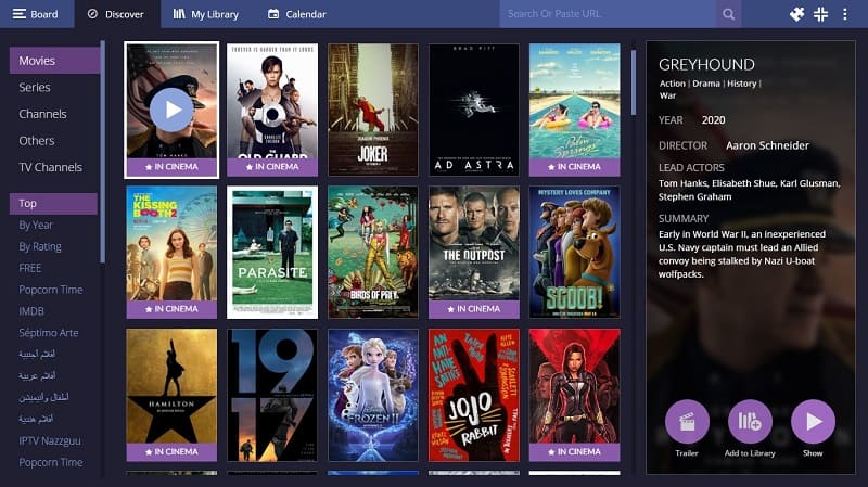 Watch theatre movies for free on stremio