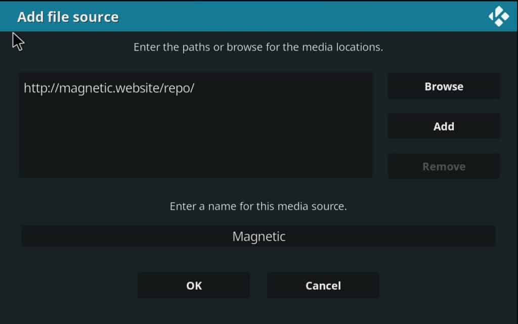 Magnetic is the repository containing the Shadow Addon to install on Kodi