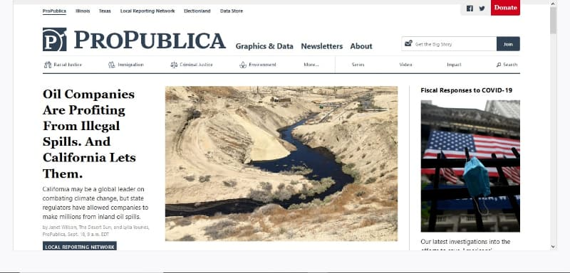 Propublica is one of the best websites on the dark web