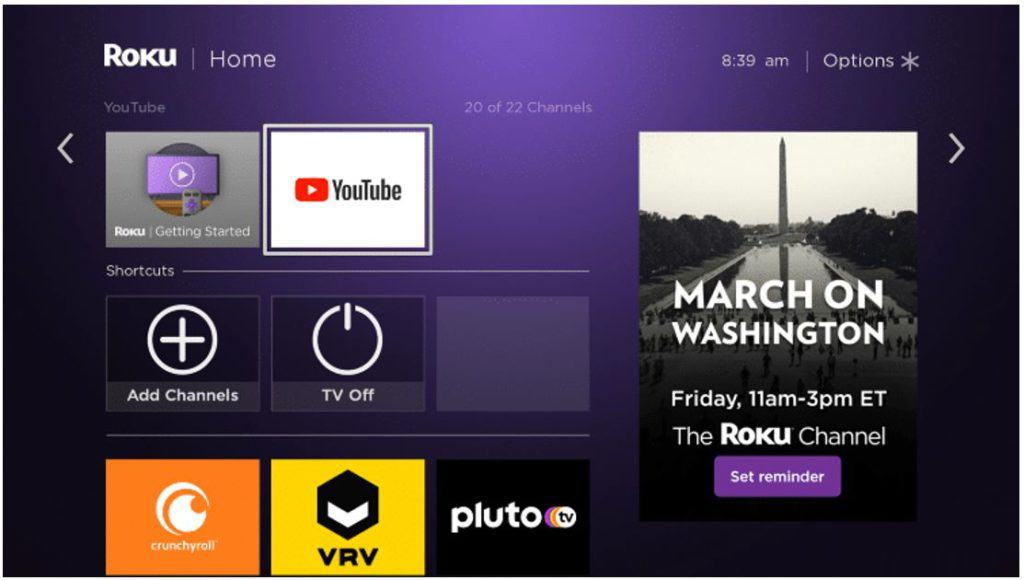 You'll find YouTube on Roku to watch Free Full Movies on YouTube in HD