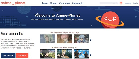 Anime-Planet has a world of anime series to watch for free
