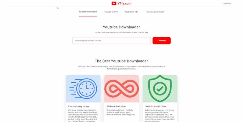 YouTube Downloader is a website that proposes to convert YouTube videos to MP4, MP3, and even 3GP files