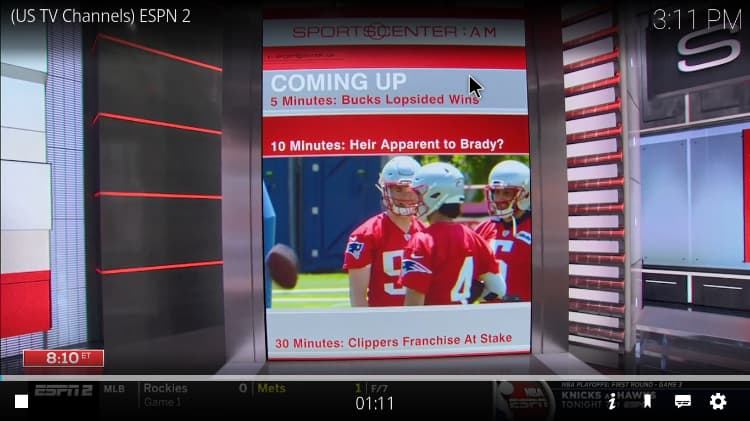 Watch all type of sports after the Q Sports Addon install process ends on Kodi