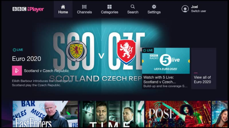 Watch Euro 2021 for free on BBC iPlayer