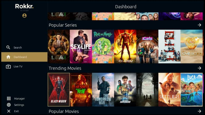 Movies & TV Shows on Rokkr app