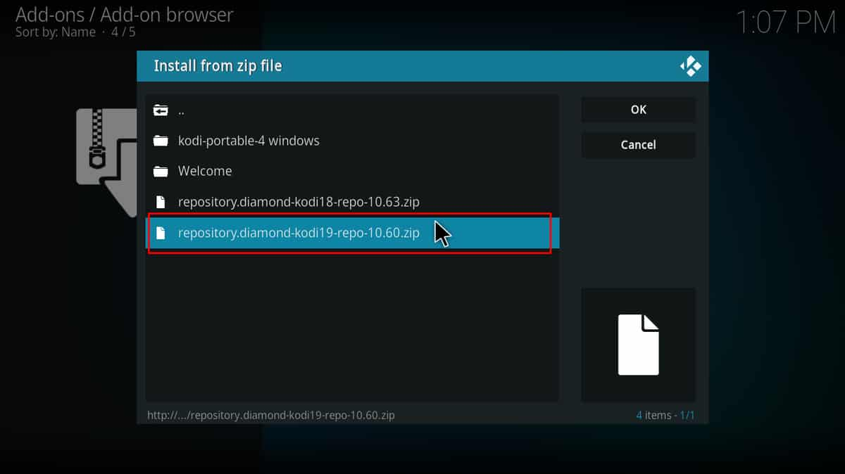 To install Diamond Shadow on Kodi, select the appropriate repository for your Kodi