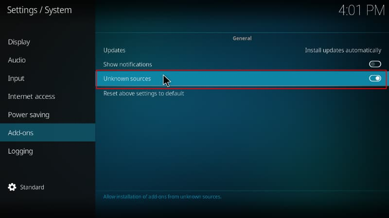 Before the Morpheus Kodi addon install enable unknown sources