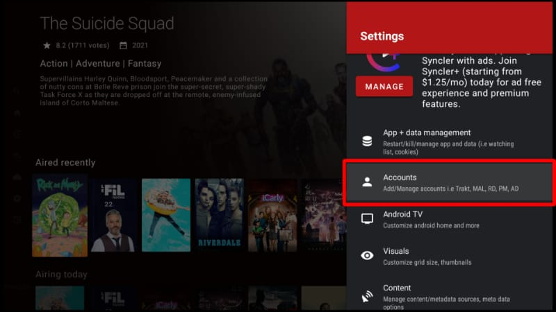 You can install Real-Debrid on Syncler APK running on your Firestick by going to Add Accounts