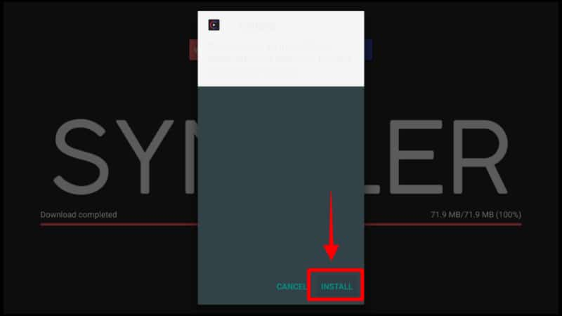 Click Installto install the Syncler APK on your Firestick